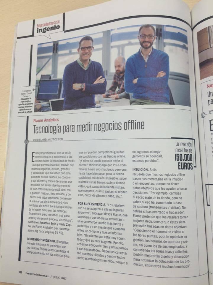Reportaje en Revista Emprendedores